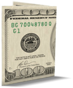 Home for 100 dollar bill drop card template