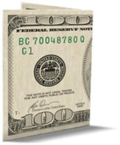 100 dollar bill drop card template - home